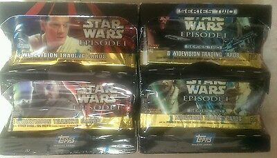 NIBs Series 1 & 2.Collectible Star Wars Episode 1,Topps Widevision Trading Cards
