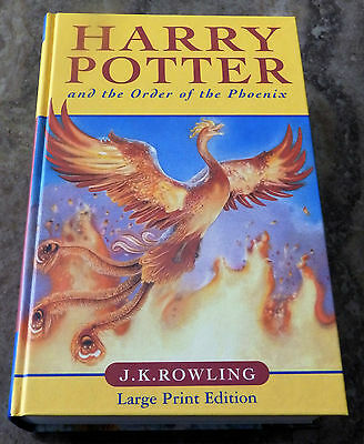 Harry Potter and the Order of the Phoenix First Edition LARGE PRINT