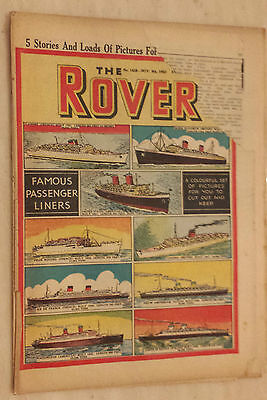 Comic- THE ROVER, No.1428, 8th November 1952 - FAMOUS PASSENGER LINERS