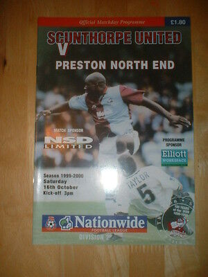 1999/2000 SCUNTHORPE UNITED v PRESTON NORTH END PNE