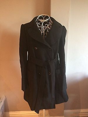 Red Herring black Maternity coat, size 12 **excellent condition**
