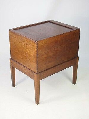 Vintage Oak Roll Top Filing Cabinet -Advance Art Deco Tambour Front Storage Unit