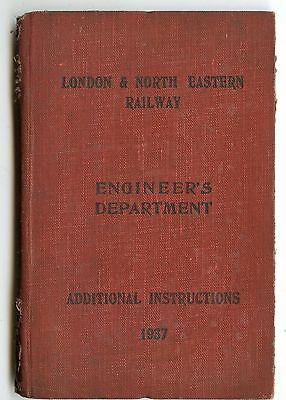 LNER Engineer's Department instructions 1937