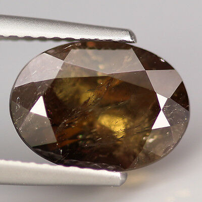 3.27 Ct Natural Brown AXINITE Oval Gemstone