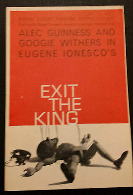 1963 Royal Court Theatre: Alec Guinness & Googie Withers in EXIT THE KING