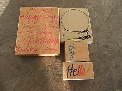 wooden rubber stamps