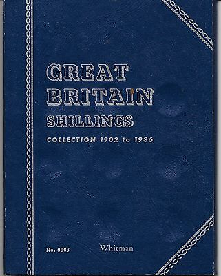 Whitman Coin Stock Book with 6 King George V Shillings