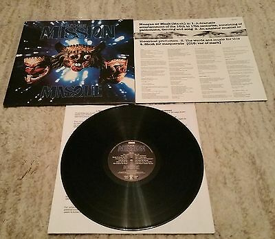 The Mission - Masque - UK LP + Lyric Inner Sleeve