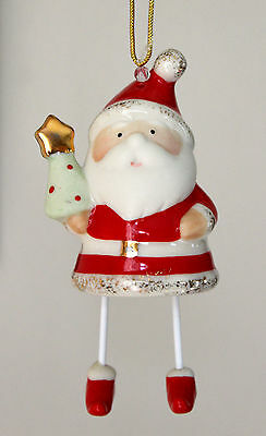 "LENOX Santa's Chime Ornament Holly New in Box 3"" Retails $40"