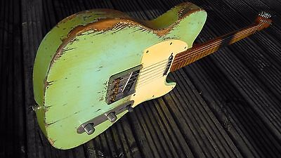 Telecaster Heavy Relic Tele Surf Green  50's Custom Build