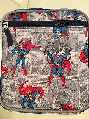 Pottery Barn Kids Superman Classic Lunch Bag Super Hero Blue Red New
