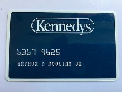 Vintage Retail Charge Credit Card J22 Kennedys