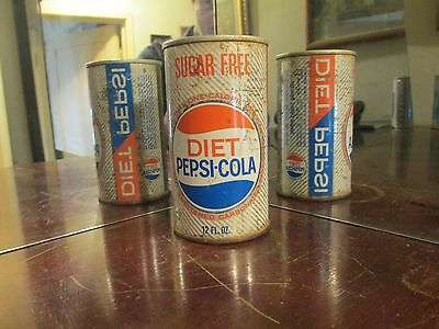 Scarce 1960's Diet Pepsi Cola Pull Ring Steel Soda Can !!