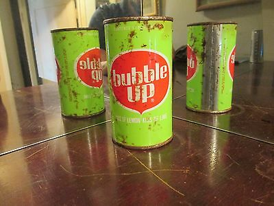 1960's Bubble Up Kiss Of Lemon Lime Soda Juice Top Can !!