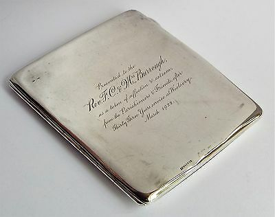 Solid sterling silver card & stamp case / wallet / aide memoire. 1922