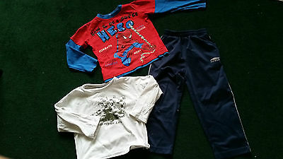 bundle tops spiderman  and bottom 2-3 years