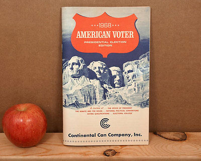 1968 Democratic Convention American Voter Presidential Election Booklet Old