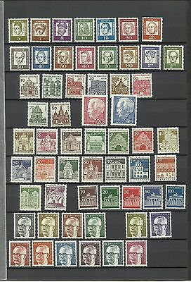 Germany West Berlin mint MNH collection of definitive issues, all shown