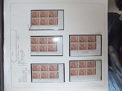 Specialised machin cylinder blocks on 3 album pages. MNH.