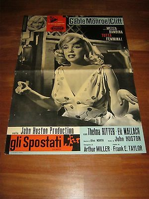 FOTOBUSTA,1961,Gli spostati The Misfits, Marilyn Monroe, Gable,Clift, 1 edizione