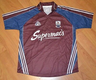 Galway GAA Gaelic Football Jersey Rugby Soccer Medium Nice Supermac's Gaillimh