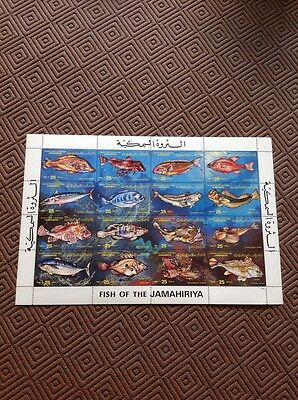Very Attractive Of Libyan Stamps Depicting LIBYAN FISHES. 1983. Very Collectable