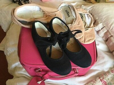 girls ballet and tap shoes size childs 10