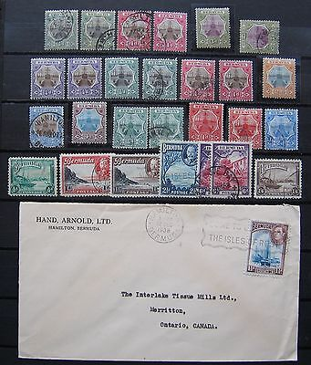 Collection BERMUDA 1902, 1906, 1908 used and MH