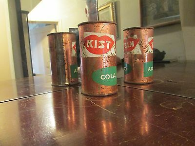 Copper Colored Kist Cola Flat Top Soda Can !!
