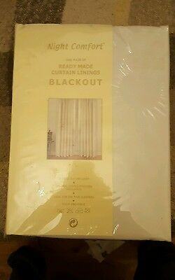 Blackout curtain linings 167 x 130cm brand new