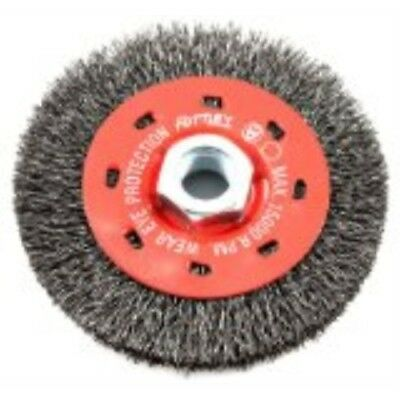 Forney 72788 Wire Wheel Brush, Coarse Crimped with 5/8-Inch-11 Threaded Arbor, 4