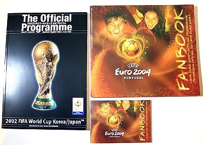 Official Programmes: 2002 World Cup Korea/Japan & Euro 2004 Portugal (+Fanbook)