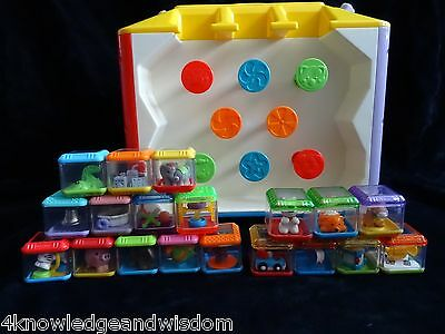Fisher Price Incrediblock WATCH VIDEO 7 Original Peek A Blocks + 12 Bonus Blocks