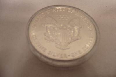 Cased One Ounce Pure Silver, Liberty Dollar  Coin.1988.