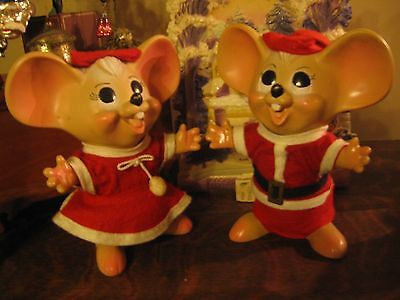 Super Cute Mr. & Mrs. Santa Mouse!!! Plastic Banks With Original Stoppers!