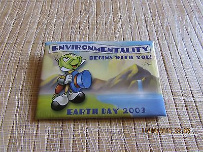 """Walt Disney """"EARTH DAY 2003"""" ENVIRONMENTALITY BEGINS WITH YOU! Jimmy Cricket"""
