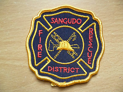 Patches: FIRE- SANGUDO RESCUE DISTRICT (New, 3.1 x 3.1 inch)