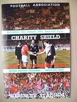 1977 FA CHARITY SHIELD- LIVERPOOL v MANCHESTER UNITED