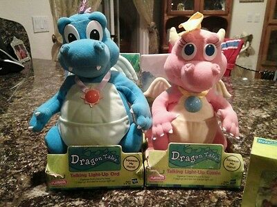 New Dragon Tales Plush Talking Cassie & Ord ~ Great Christmas Gifts!!