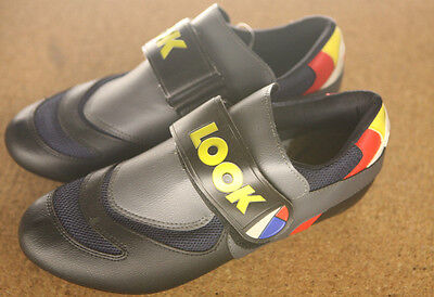 Vintage NOS NEW French Look / La vie Claire / Mondriaan road cycling shoes