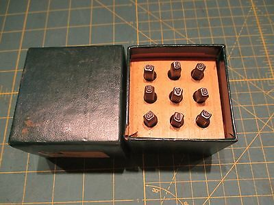 """Ace Hanson 1/8"""" steel Number Stamp Punch Set Made in USA Stock #386313"""