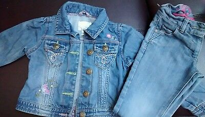 Girls Next Denim Jacket & Jeans Age 3-4