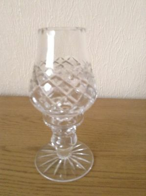 Cut Glass 2 Piece Candle Holder
