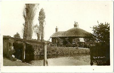 Two Bridges Bedfont Middlesex. Real Photographic (Rp) Postcard