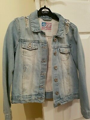 Girls jean jacket size 10 to 11 years