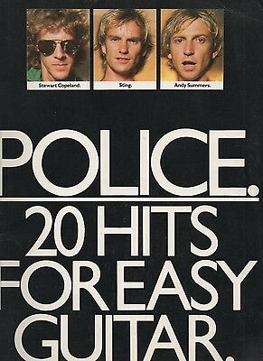 POLICE 20 Hits for Easy Guitar Songbook 1982 Sting Sumner Copeland Summers