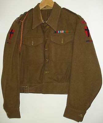 WW2 British Royal Engineers Captain's Battledress Blouse 1940 Pattern. 1944