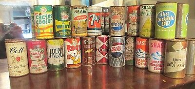 (19) Different Soda Can Collection Lot Of Flat Tops And Pull Rings
