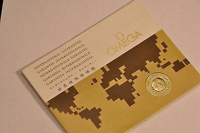 old vintage omega guarantee booklet for collectors