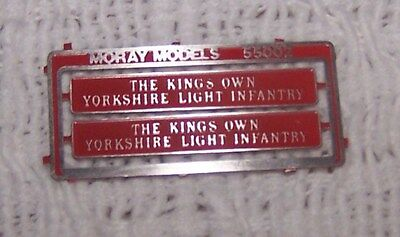 00 Bachmann Hornby Lima etched NAMEPLATES for class 55 D9002 or 55002 KOYLI.